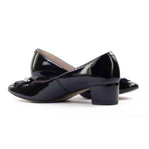 Женские Туфли модельные Натур. Кожа ANNMEX * 7433 ЧЁРНЫЕ