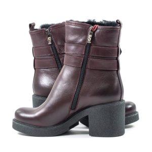 Ботинки SIMEN simen-1726a-бордовые